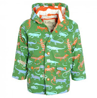 Crazy Lizard's Raincoat in Green Design Fashion Children Trend 2013