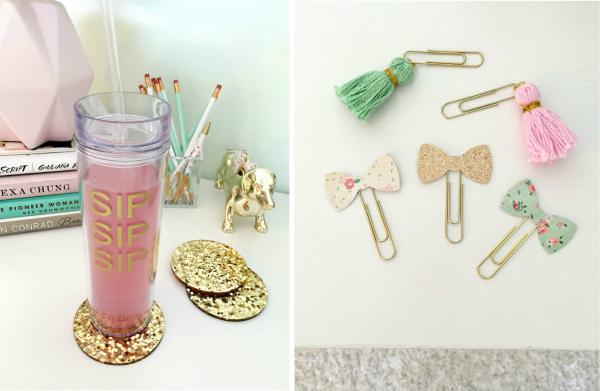 GingerPDesigns Desk Calendar   Golden Glam Magazine Caddy · Kate Spade ...
