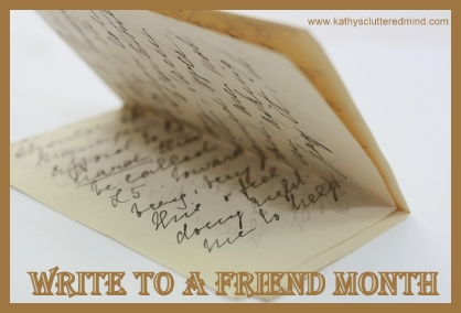 Write a friend month