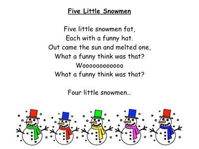 Chubby Little Snowman Poem | New Calendar Template Site
