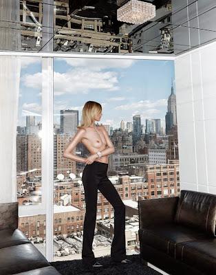 Martha Hunt topless for Elle Mexico magazine photoshoot