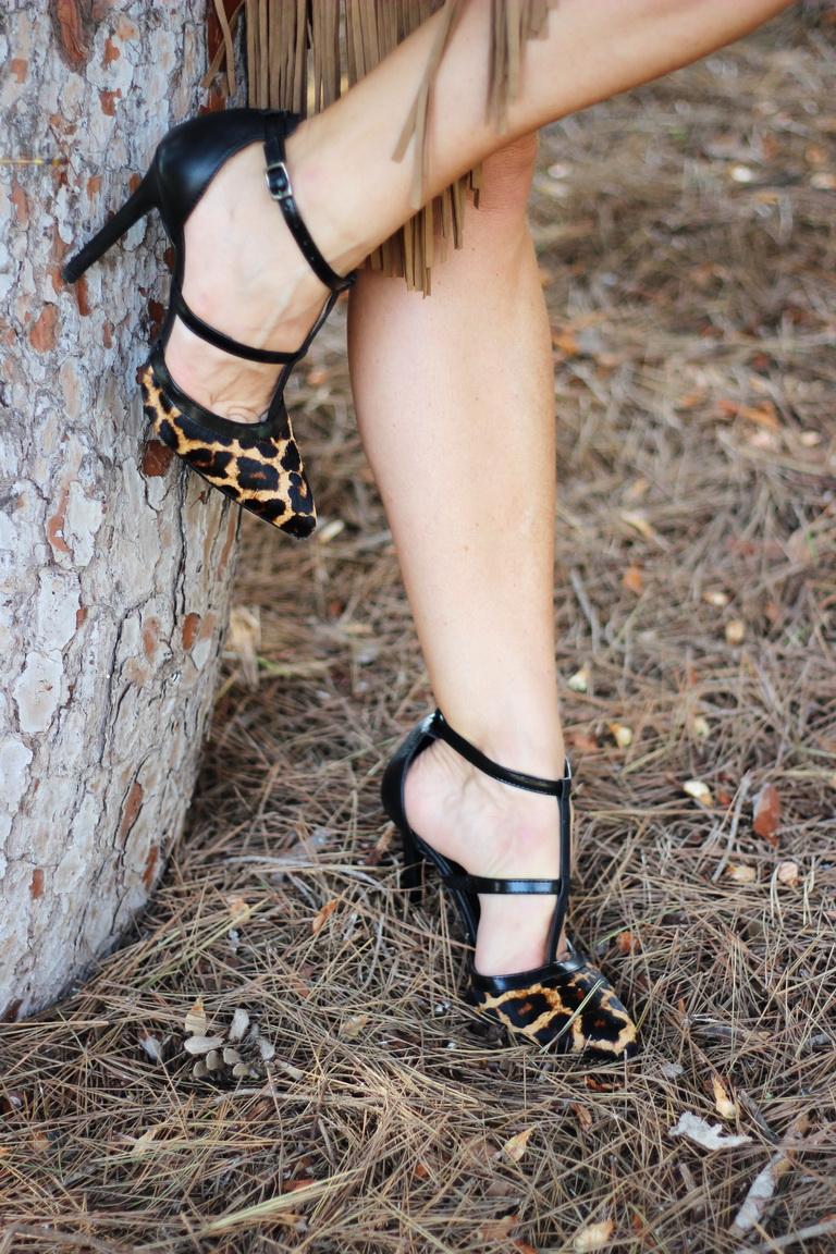 Stilettos animal print, calzado nacional, Sandra Moss