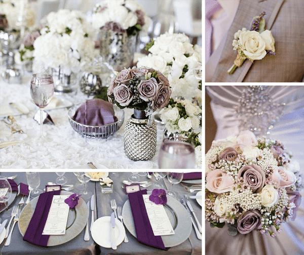сватба в лилав и сив цвят