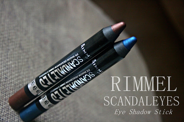 Rimmel ScandalEyes Eye Shadow Sticks Blamed Blue and Bad Girl Bronze