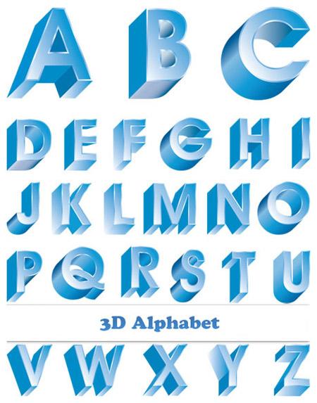 Quality Graphic Resources: 3D Blue Alphabet S Alphabet 3d