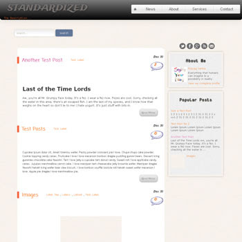 Standardized blogger template. free blogspot template seo optimized