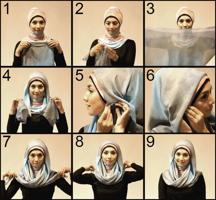How To Wear Hijab Tutorial Modern Paris 2013