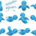 Animated Flying Twitter Bird Widget