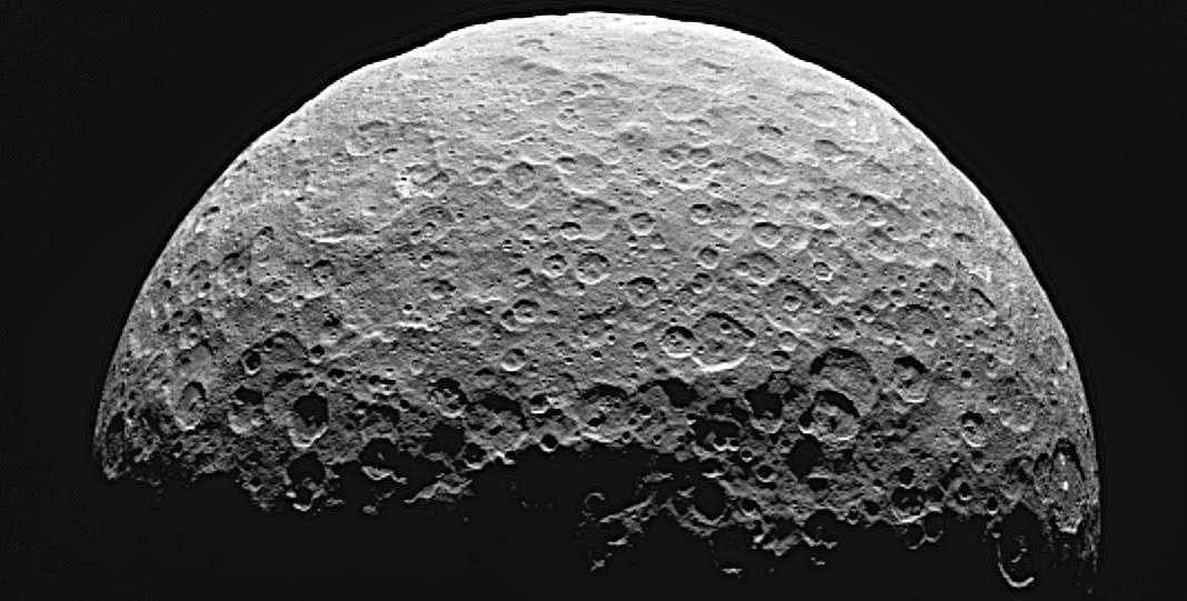 This image shows the northern terrain on the sunlit side of dwarf planet Ceres as seen by NASA's Dawn spacecraft on April 14 and 15, 2015. Credits: NASA/JPL-Caltech/UCLA/MPS/DLR/IDA