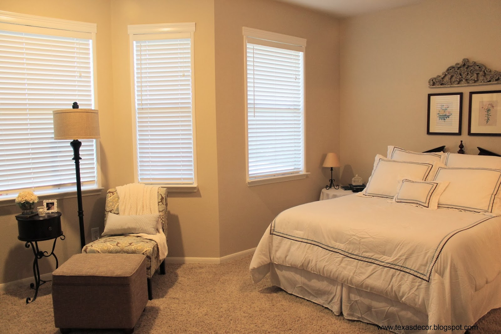 Texas decor master bedroom and bath before and after for Bedroom makeover