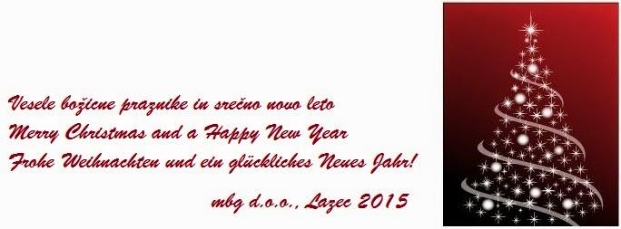 Vesele božicne praznike in srečno novo leto