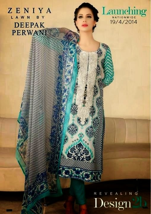Zeniya Lawn Collection 2014