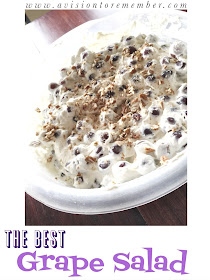 The Best Grape Salad Ever by A Vision to Remember