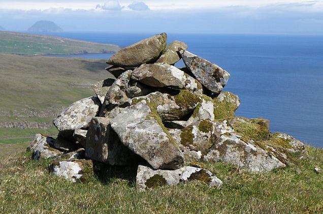 A cairn on a hilltop