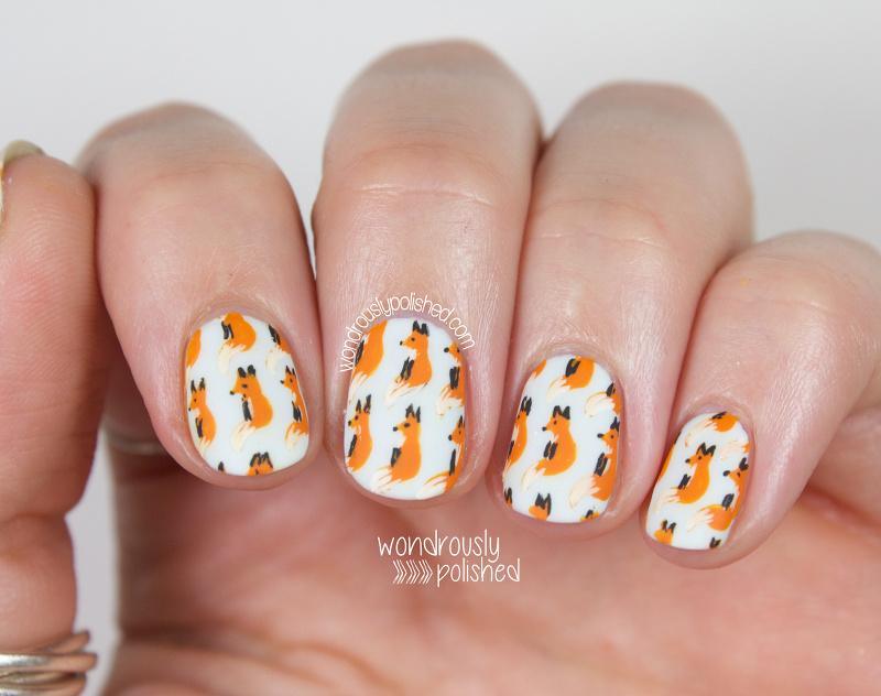 Wondrously Polished: 31 Day Challenge 2.0, Day 1 - Orange: Cute Fox ...