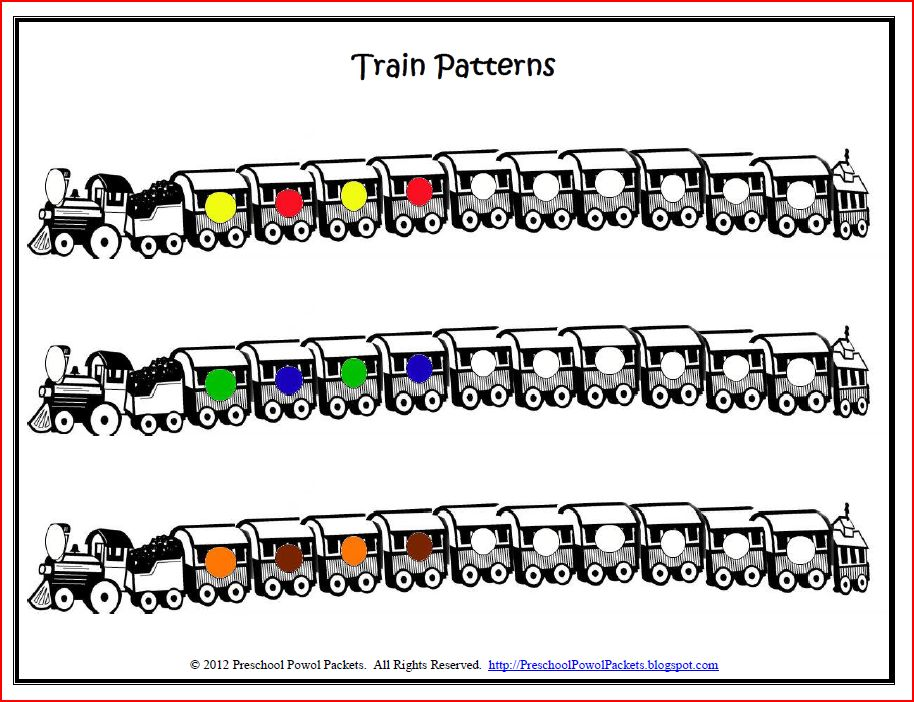 graphic about Train Template Printable referred to as No cost Printable: Habit Trains Preschool Powol Packets