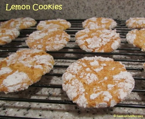 Lemon Cake Mix Cookies with Cool Whip by CookieClubRecipes