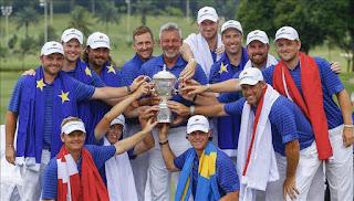 GOLF- Victoria rotunda para Europa, 18,5 a 5,5 en la Copa Eurasia