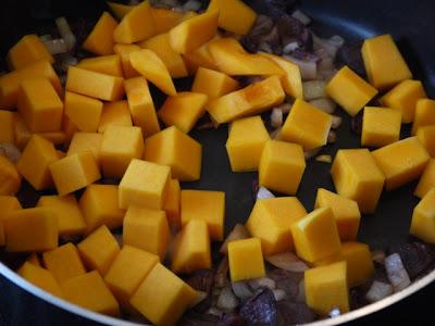 Clockwatching Tart: Butternut Squash and Shiitake Mushroom Ragout