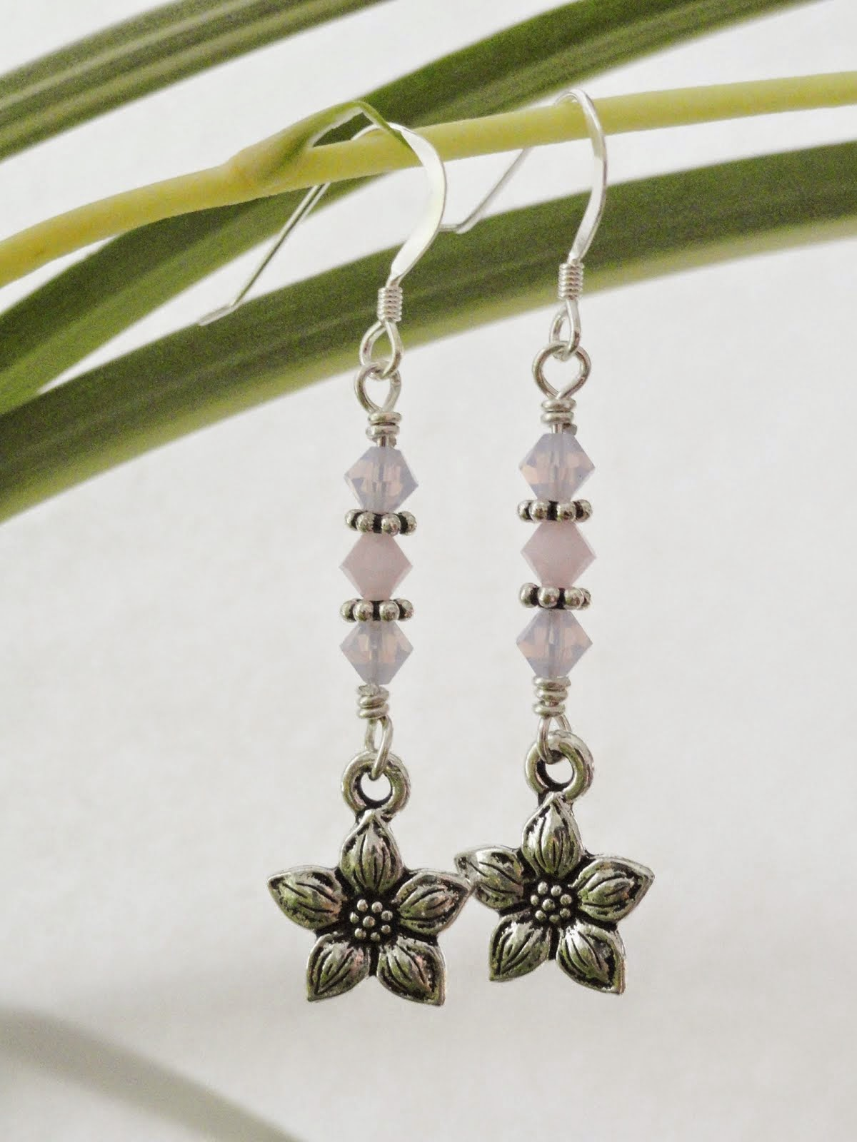 Butterfly and Flower Earrings