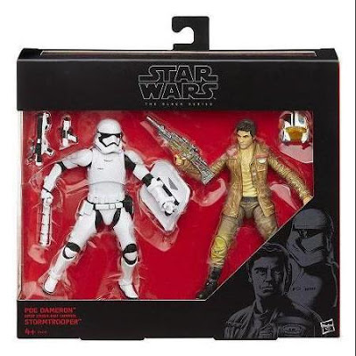 "Star Wars: The Force Awakens Black Series ""Escape From Destiny"" 2 Pack with Poe Dameron & Riot Control Stormtrooper 6"" Action Figures"