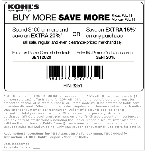 kohls printable coupons 2011. Printable Coupons 2011: KOHL#39;S