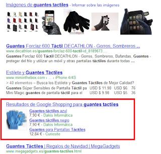 vender guantes tactiles