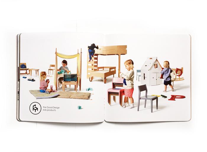 good design for kids at Actus store Japan