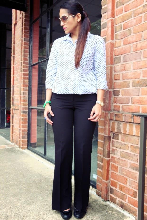 Button Down - GAP, Trousers - Espirit, Shoes - Faith, Tanvii.com