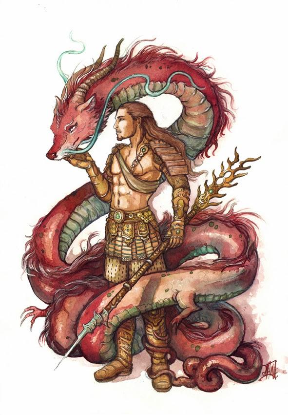 Art asiatique du dragon
