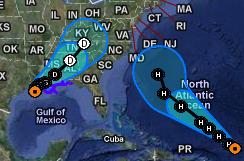 Katia, Lee, Das Wort zum, Atlantik, USA, US-Ostküste Eastcoast, Verlauf, Vorhersage Forecast Prognose, September, 2011, Hurrikansaison 2011,