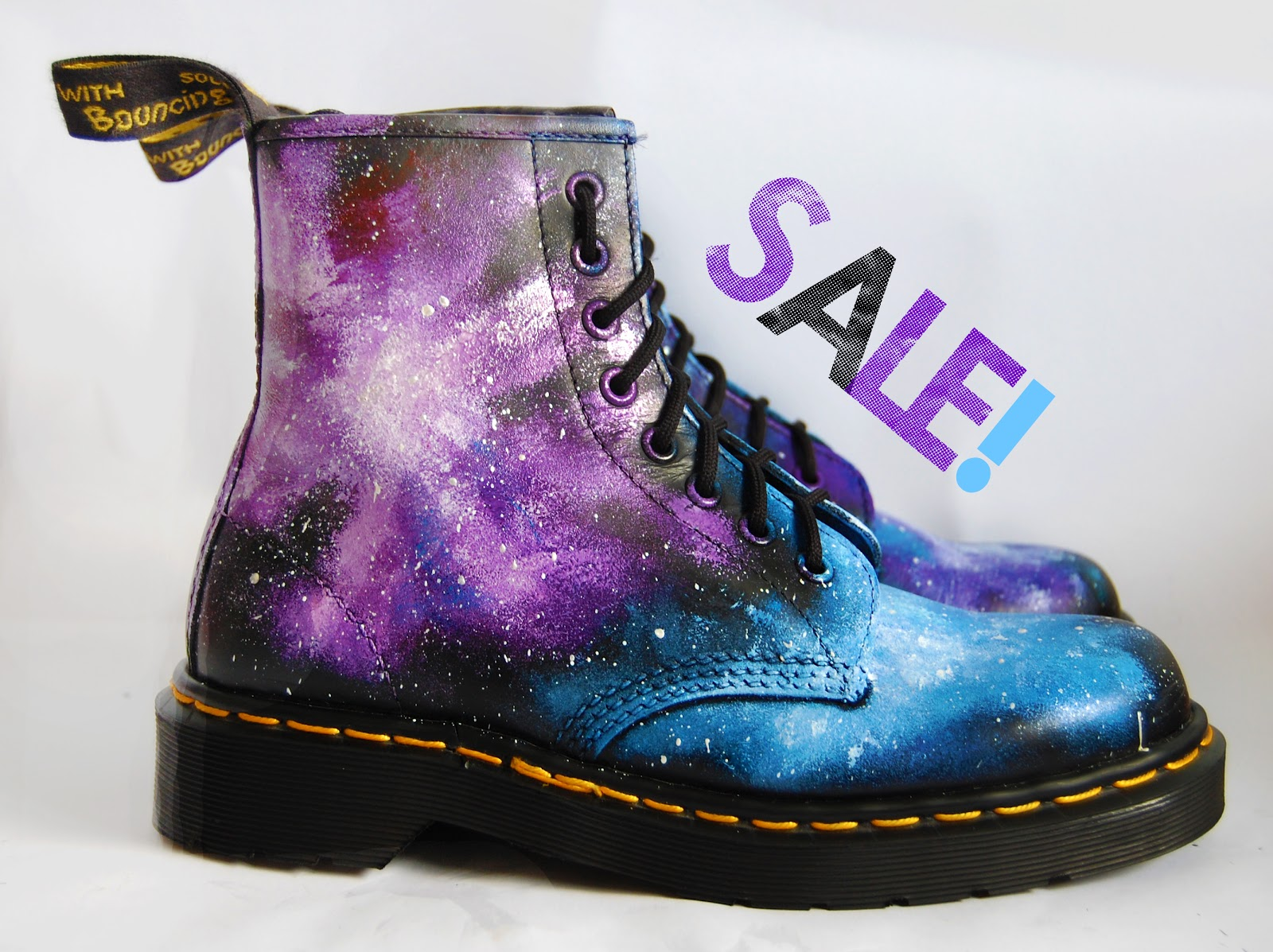 ... Martinez: Galaxy Print Dr Martens Sale On Etsy! Hand Painted