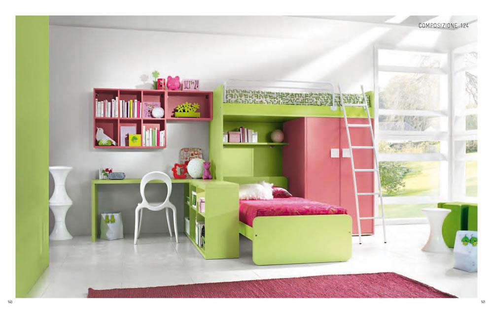 habitaci n doble para ni as en rosa ideas para decorar On modelos de habitaciones para ninas