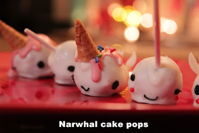 Narwhal cup cakes