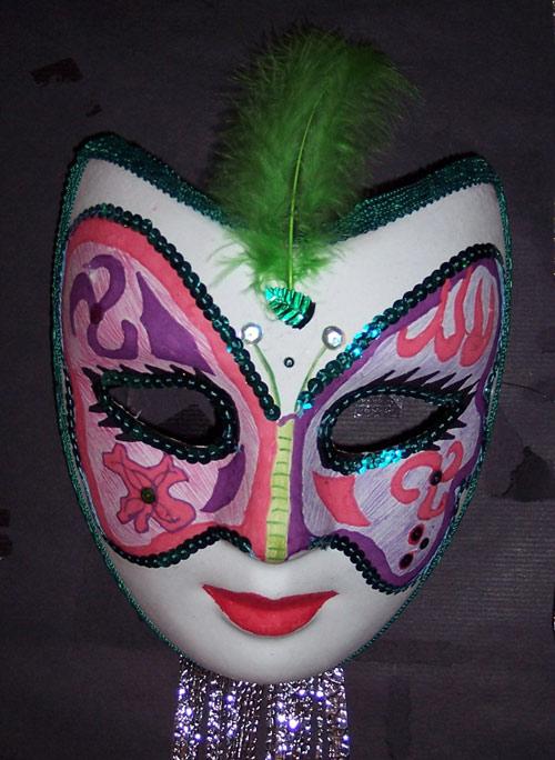 Mascaras de yeso decoradas con lentejuelas imagui - Mascaras venecianas decoracion ...