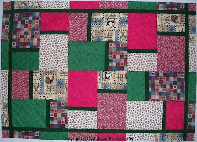 Fat Quarter Big Block quilt top