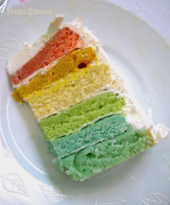 Peng\'s Kitchen: Rainbow Cake (Natural Colours)