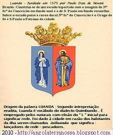 BRASÃO DE LUANDA - NOSSA SENHORA DA ASSUNÇÃO E SÃO PAULO.