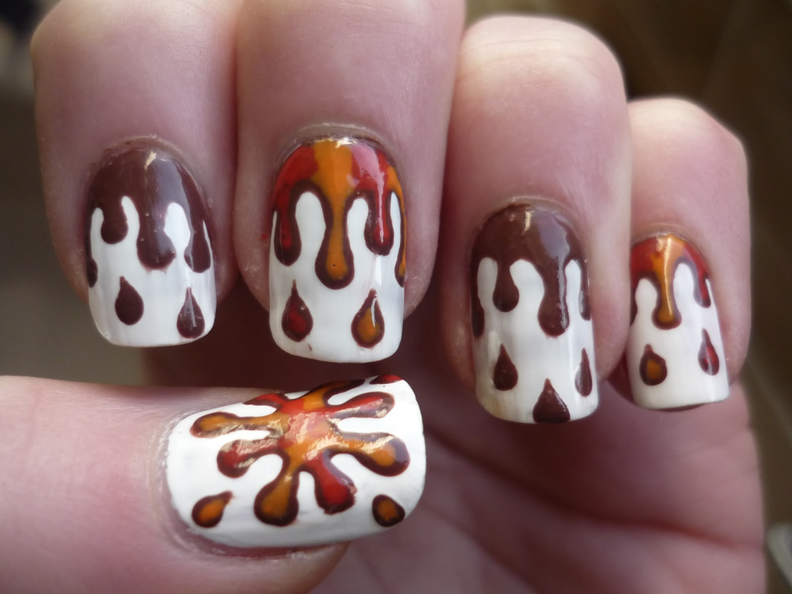 Melting Chocolate Nails Juliatmll Nail Art