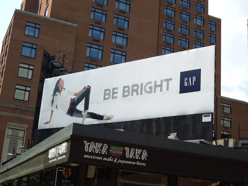 Gap Yuan Yuan Tan Be Bright billboard NYC
