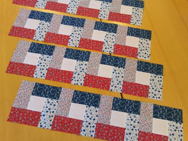 Redbluewhite quilt - Patchwork ideen ...