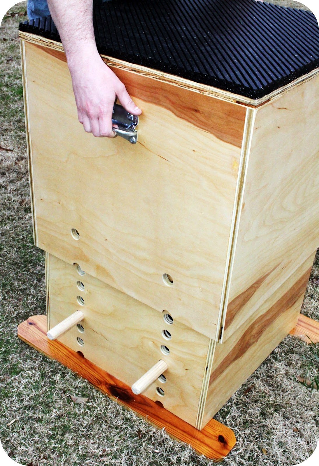 Trendytoolbox adjustable wooden plyo box