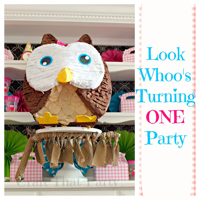 Pink Owl First Birthday Party