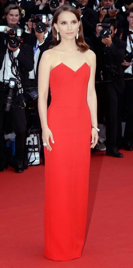 68º Festival Filme de Cannes, red carpet - Natalie Portman Christian Dior vermelho