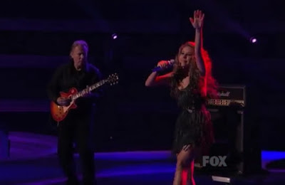 American Idol Haley Reinhart screencaps images photos pictures Top 3 Led Zeppelin fringe dad guitar