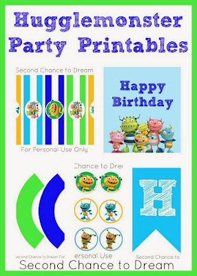 Second Chance to Dream Hugglemonster Party Printables