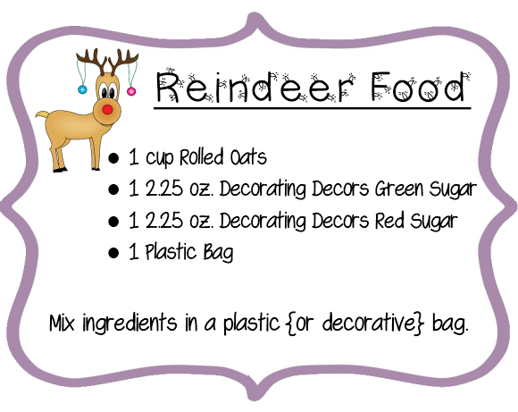 food poem free printable magic reindeer food label reindeer food poem ...