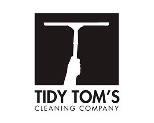 Logótipos Vintage - Tidy Tom's Cleaning Company - ohTwentyOne