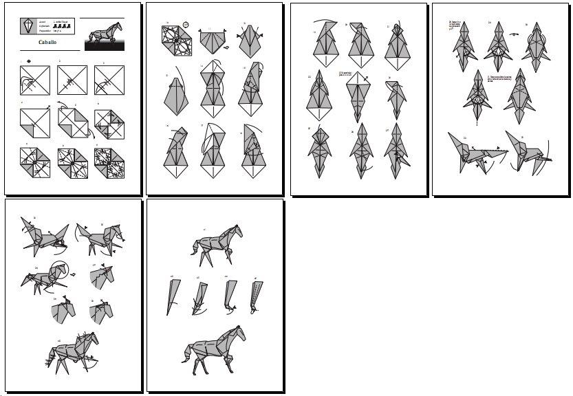 Amantes De Cavalos Origami