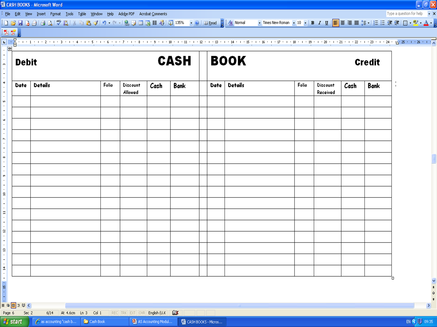 accounts ledger template excel